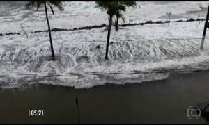 Virada de tempo provoca estragos no litoral de SP