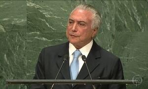 Temer na ONU: 'impeachment respeitou ordem constitucional'