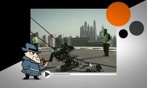 Detetive Virtual analisa vídeo em que estilingue humano arremessa homem