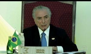 Michel Temer fecha vários acordos comerciais com a Índia