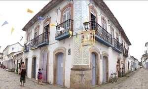 Tô de Folga mostra as belezas do centro histórico de Paraty