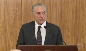 Temer parabeniza Trump e espera que o Brasil se aproxime dos EUA