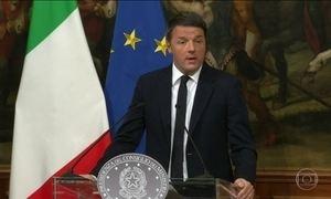 Primeiro-ministro italiano renuncia após derrota em referendo