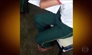 Diretor humilha aluno que foi à escola de chinelo e vai preso, no DF