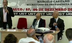 Centrais sindicais criticam projeto de reforma previdenciária