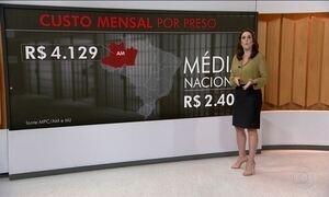 Custo de preso no Amazonas é o dobro da média nacional