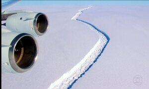 Iceberg gigante está se formando e pode se soltar a qualquer momento