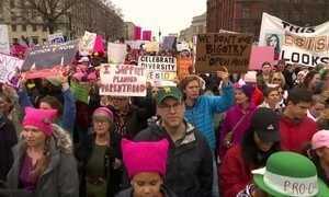 Milhares marcham pelos direitos das mulheres em Washington