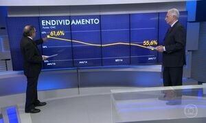 Endividamento das famílias brasileiras está em queda