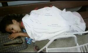 Hospital do TO põe menina internada em banco de madeira por falta de leito
