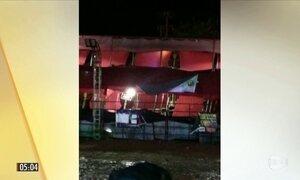 Imagens mostram queda de camarote em festa de rodeio no interior de SP