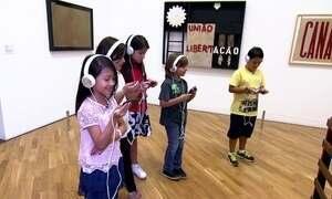 Museu high-tech: crianças falam com obras de arte na Pinacoteca de SP
