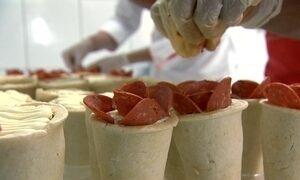 Pizzaria faz pizzas em formato de cone e sabores como caviar e lagosta
