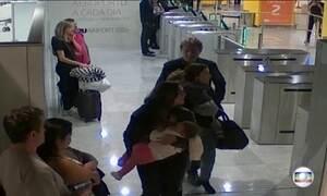 Imagens mostram Joesley Batista e família deixando o Brasil
