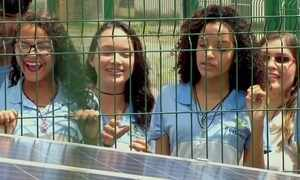 Escola pública instala placas de energia solar