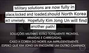 Donald Trump volta a ameaçar Coreia do Norte pelo terceiro dia seguido
