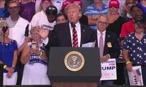 'Quem dá voz aos racistas é a imprensa, não eu', ataca Trump