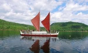 Havaianos cruzam mundo em canoa sem GPS, mapa ou computador