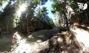 Sinta a emoção de fazer mountain bike nas montanhas do Canadá
