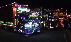 Famílias se reúnem no Japão para ver caminhões mais decorados do mundo
