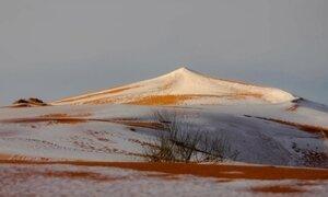 Neve cobre areia do deserto do Saara, em fenômeno raríssimo; veja imagens
