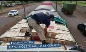 Contrabandistas de cigarro são presos pela 2ª vez em um mês no MS