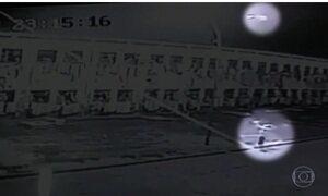 Câmera flagra invasão de drone a penitenciária de Mato Grosso do Sul