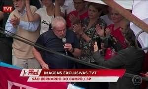 Em discurso, ex-presidente Lula critica imprensa e Justiça