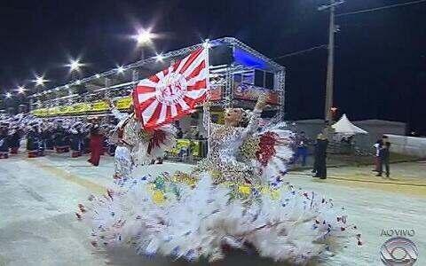 Veja imagens dos casais de mestre-sala e porta-bandeira dos Imperadores do Samba