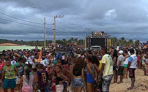 Carnaval na cidade entra no clima da Copa do Mundo (Paulo Toledo Piza/G1)