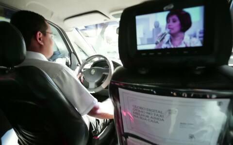 TV Digital da  Globo está nos  táxis de São Paulo (RPC TV)