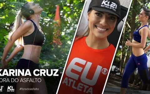 """Fora do Asfalto: Karina Cruz faz último treino para a corrida: """"Preparadíssima"""""""