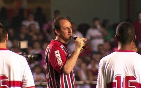Rogério Ceni discursa após o amistoso de sua despedida do São Paulo