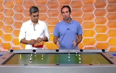 Caio usa a mesa tática para analisar Corinthians e São Paulo antes do clássico