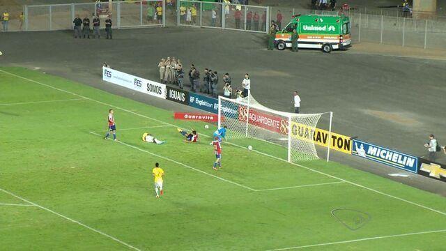 Confira os gols da selação olímpica durante jogo em estádio do ES