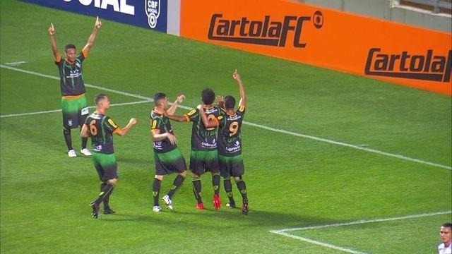 O gol de América-MG 1 x 0 Botafogo pela 27ª rodada do Brasileirão 2016
