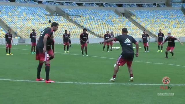 Flamengo treina no Maracanã para o confronto contra o Corinthians