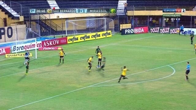 Veja os melhores momentos de São Bernardo 0 x 1 Mirassol, pelo Paulistão
