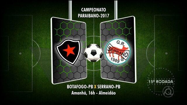 Confira locais e horários dos jogos da 15ª rodada do Campeonato Paraibano