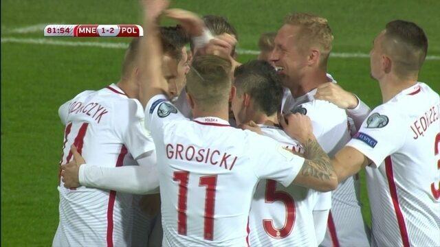 Os gols de Montenegro 1 x 2 Polônia pelas Eliminatórias da Europa para a Copa do Mundo