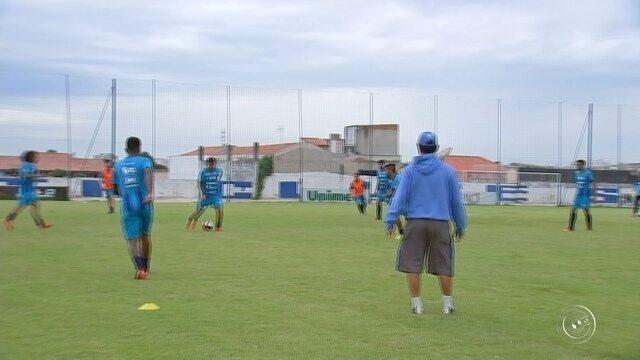 São Bento treina para decisão contra o Mirassol, na luta pela permanência no Paulistão