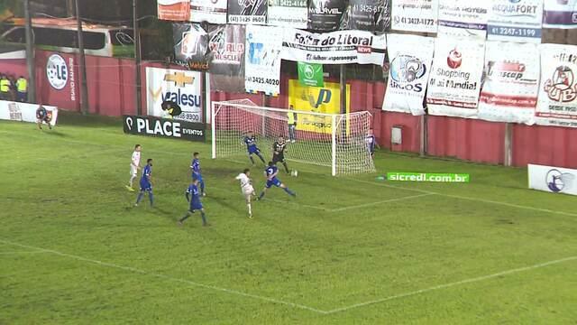 Gol do Rio Branco-PR! Ramon marca aos 40 minutos do segundo tempo