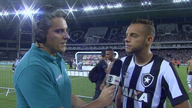 """Guilherme elogia postura """"aguerrida"""" do time do Botafogo, mas lamenta vice"""