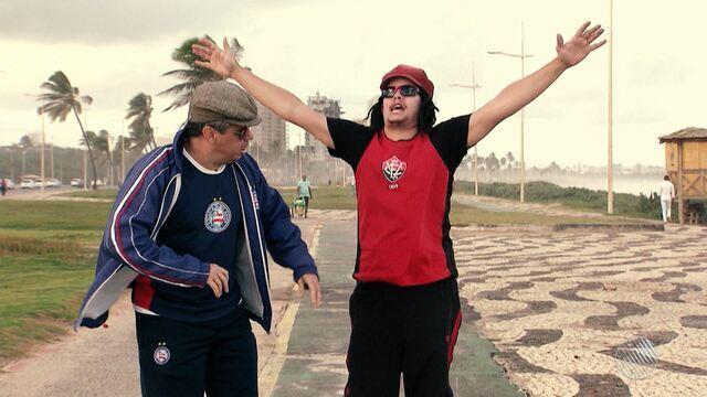 Jair e Vicentino fazem pirraça mesmo após derrota dos times baianos no fim de semana