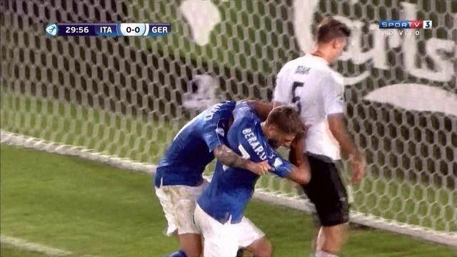 O gol de Itália 1 x 0 Alemanha pela Eurocopa sub-21