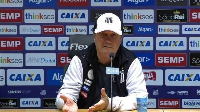 Assista à entrevista de Levir Culpi após derrota do Santos para o Sport