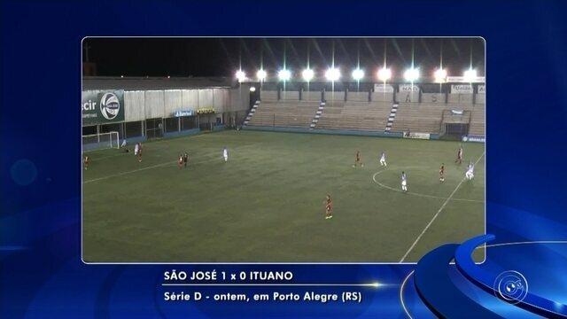 São José vence, avança em primeiro e elimina o Ituano da Série D do Brasileiro