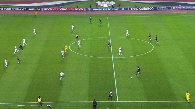 São Paulo se defende com linhas de quatro contra o Vasco