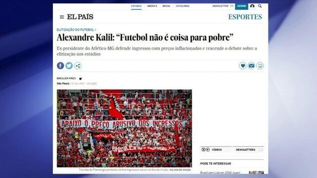 """""""Futebol não é coisa para pobre"""", diz Alexandre Kalil sobre debate de preços dos ingressos"""