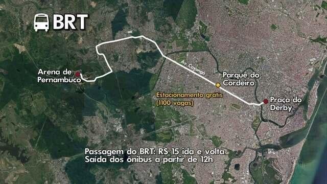 Esquema especial para Sport x Palmeiras: veja como chegar na Arena de PE sem carro